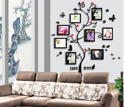 . Living Room Tree Photo Frames Wall Decal Sticker