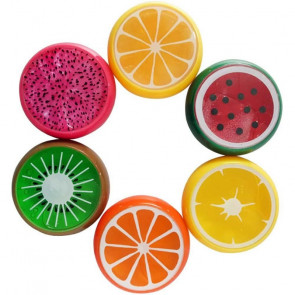 Set of 6 Fruits Filled With Slime